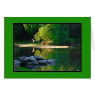 Carte Réflexions de lac spring