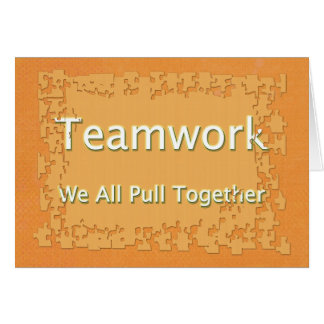 Carte Relations avec les employés de travail d'équipe