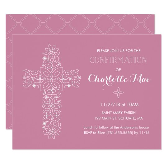 Carte Religieuse D Invitation De La Confirmation