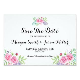 Carte Sauvez l'invitation floral de rose de couleur pour