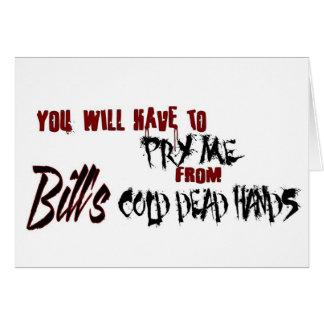 Carte Soulevez-moi des mains de Bill