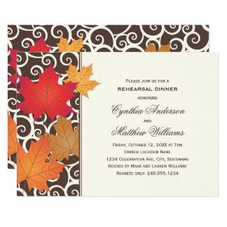 Carte Thème d'automne d'automne de l'invitation   de