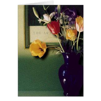Carte Vase bleu