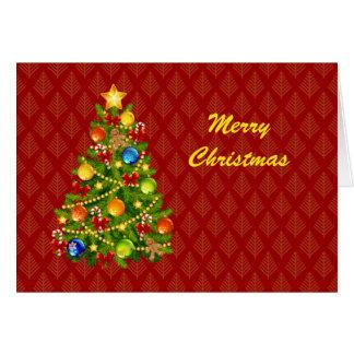 Carte verte d'arbre de Noël