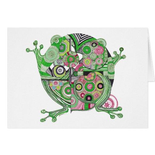 Carte vierge de note de grenouille