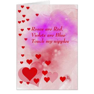 Carte vilaine mignonne de jour de Valentines