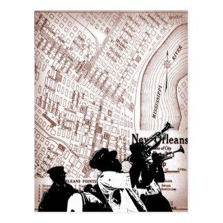 Carte vintage de la Nouvelle-Orléans Carte Postale