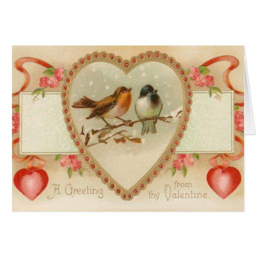 Carte vintage de Saint-Valentin