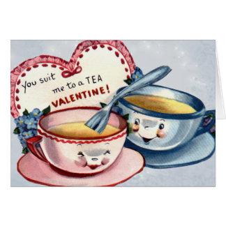 Carte vintage de Saint-Valentin pour des enfants