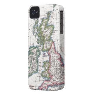 Carte vintage des îles britanniques (1780) coques iPhone 4