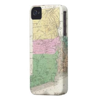 Carte vintage d'Île de Rhode (1827) Coques Case-Mate iPhone 4