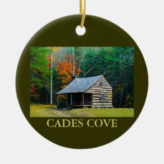 Carter Shields Cabin - Cades Cove - Christmas Ceramic Ornament
