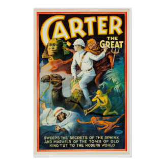 Carter the Great Sweeps the Secrets of the Sphinx Poster