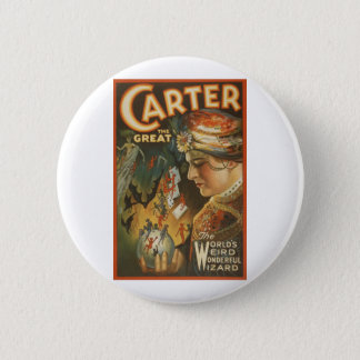 Carter the Great - The World's Weird Wizard 2 Inch Round Button