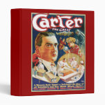 Carter The Great Vintage Magician Advertisement 3 Ring Binders