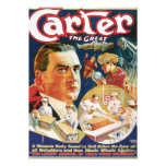 Carter The Great Vintage Magician Advertisement Custom Invitations