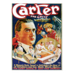 Carter The Great Vintage Magician Advertisement Postcards