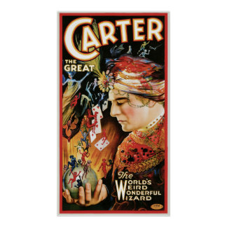 Carter The Great ~ Wizard Vintage Magic Act Poster