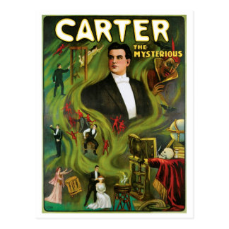Carter The Mysterious Vintage Magic Act Post Card