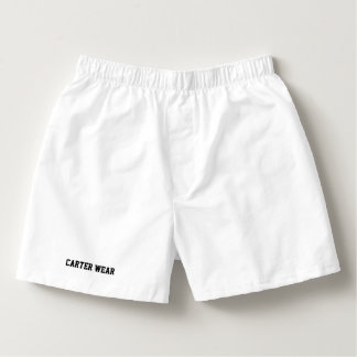 Carter Wear - Men's Cotton Boxers - White