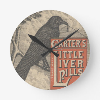 Carter's Little Liver Pills Ephemera Round Clock