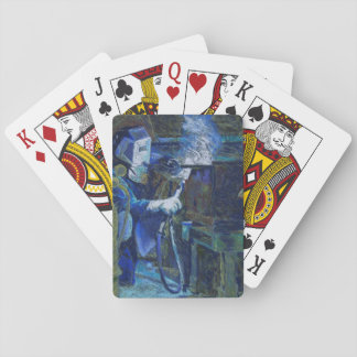 "Cartes à jouer ""Man at Work"" Playing Cards"