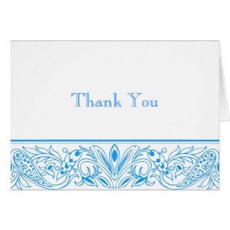 Cartes bleues immaculées stationnaires et de Merci