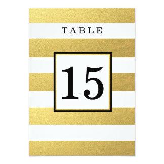 CARTES CHICS DE NOMBRE DE TABLE DE MARIAGE DE CARTON D'INVITATION  12,7 CM X 17,78 CM