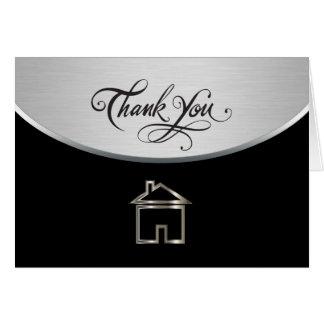 Cartes chiques de Merci d'immobiliers