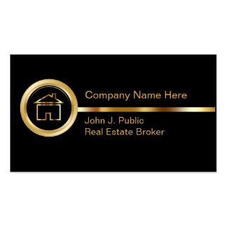 Cartes classieuses d'entreprise immobilière carte de visite standard