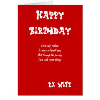 Cartes d'anniversaire ex d'épouse