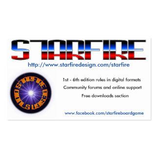 Cartes de convention de Starfire Carte De Visite Standard