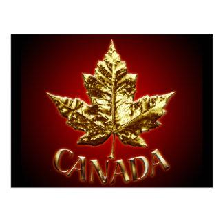Cartes de drapeau du Canada d'or de cartes Carte Postale