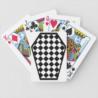 Cartes de jeu (blanches) de bois d'ébène de Damier Jeu De Cartes