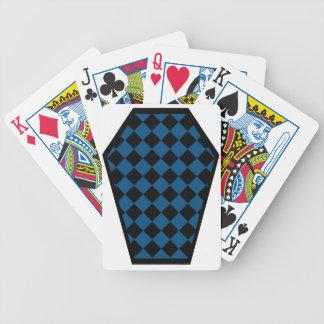 Cartes de jeu (bleues) de bois d'ébène de Damier Jeu De Cartes