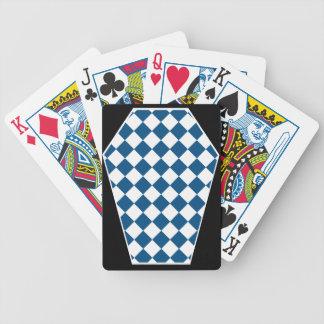 Cartes de jeu (bleues) enes ivoire de Damier Jeu De Cartes