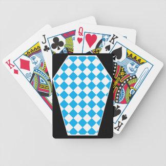 Cartes de jeu (cyan) enes ivoire de Damier Cartes À Jouer