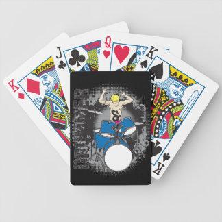 Cartes de jeu de batteur pour des mélomanes jeux de cartes