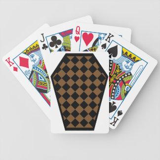Cartes de jeu de bois d'ébène de Damier (Brown) Cartes À Jouer