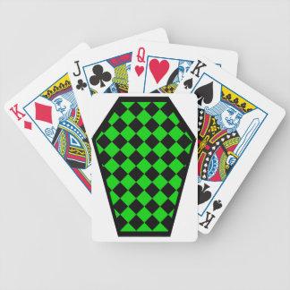 Cartes de jeu de bois d'ébène de Damier (chaux) Jeux De Cartes Bicyle