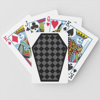 Cartes de jeu de bois d'ébène de Damier (fumée) Cartes De Poker