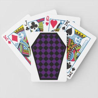 Cartes de jeu de bois d'ébène de Damier (indigo) Jeu De Poker