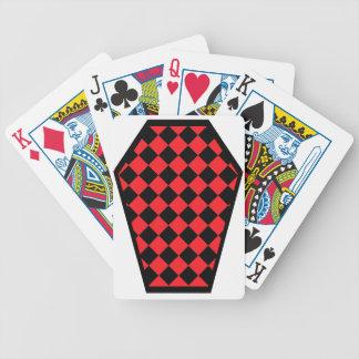 Cartes de jeu de bois d'ébène de Damier (rubis) Cartes De Poker