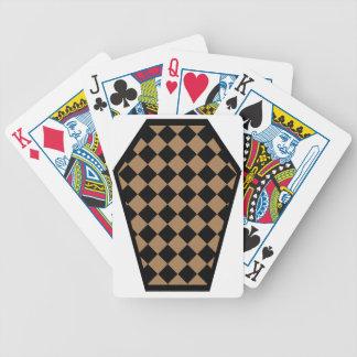 Cartes de jeu de bois d'ébène de Damier (Tan) Jeux De Cartes
