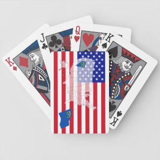 Cartes de jeu de carte de drapeau de l'état Nevada Jeu De 52 Cartes