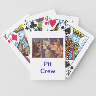 Cartes de jeu de chien de pitbull jeux de cartes