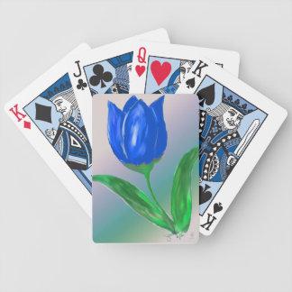 Cartes de jeu de tulipe bleue jeu de cartes