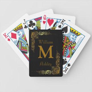 Cartes de jeu décorées d un monogramme customisées cartes de poker