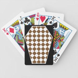 Cartes de jeu enes ivoire de Damier (Brown) Cartes À Jouer