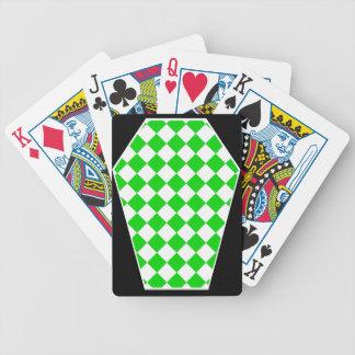 Cartes de jeu enes ivoire de Damier (chaux) Cartes De Poker